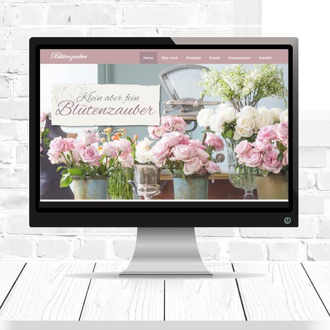 Homepage Erstellung für Blütenzauber in Waldenbuch.